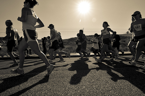 Students Run LA at Dockweiler Beach