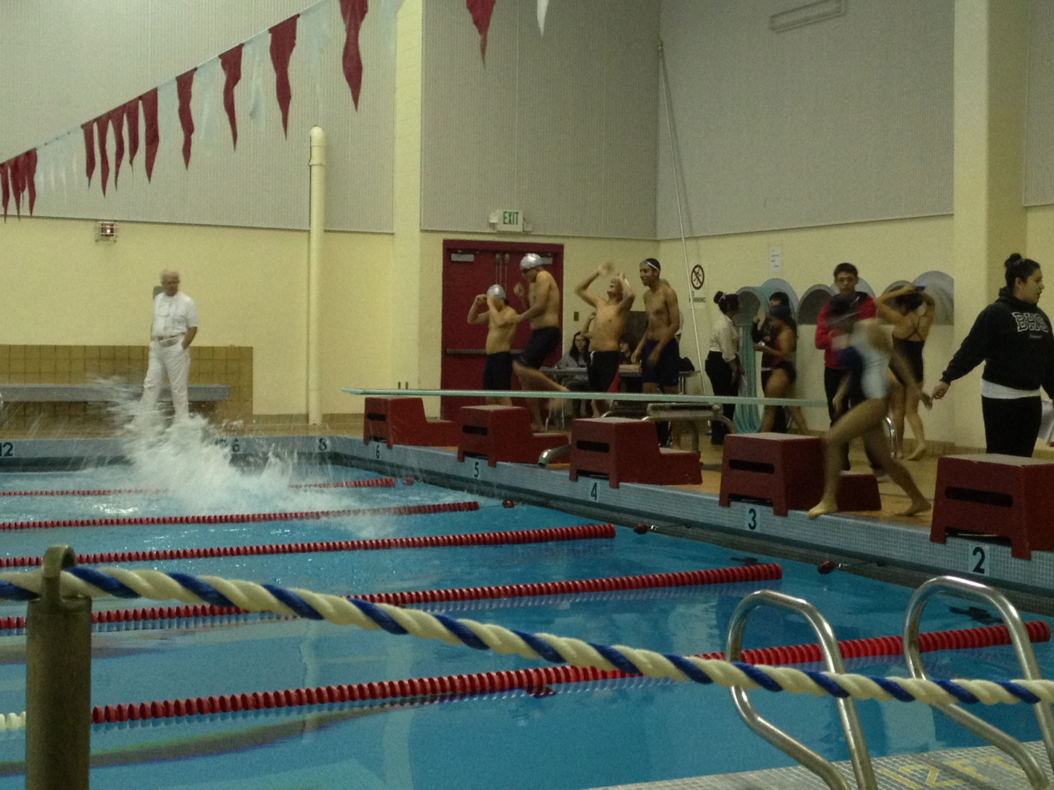 Swimming to Victory against Belmont High