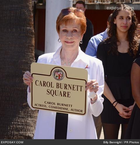 Square renamed in honor of alumnus Carol Burnett