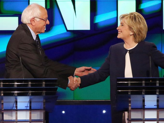 Clinton v. Sanders in Democratic Debate