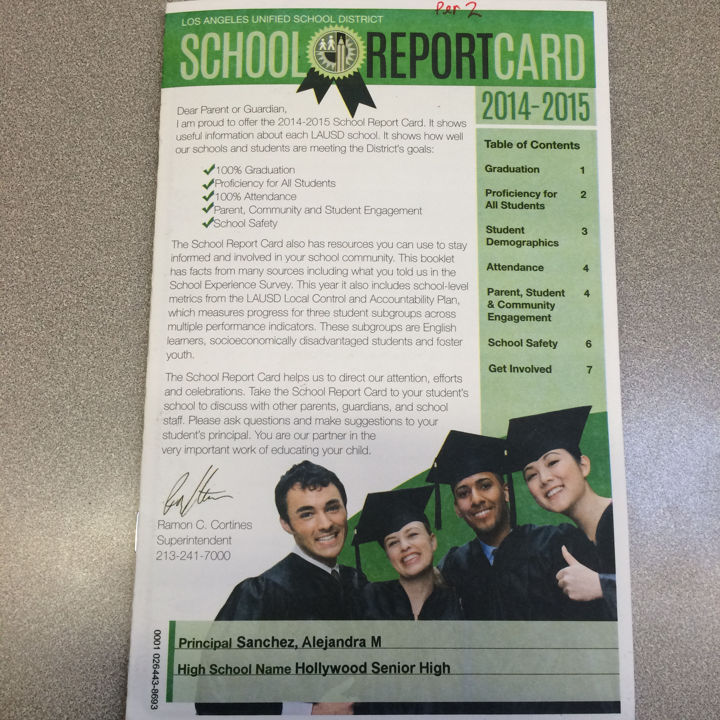 School Report Card Shows Mixed Results