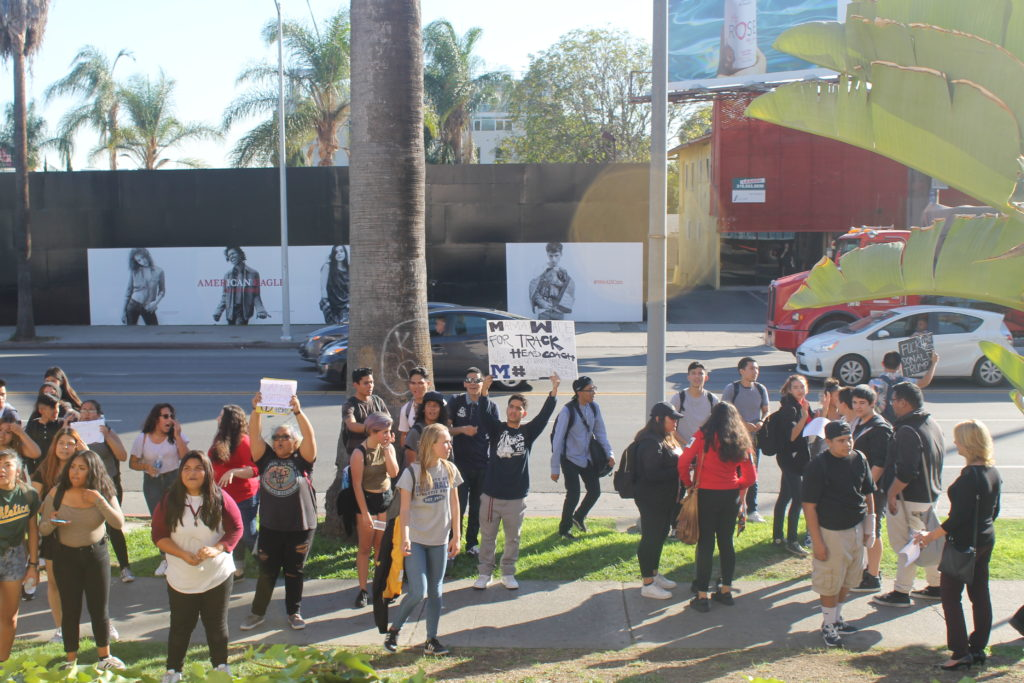 Students protest election by walking out