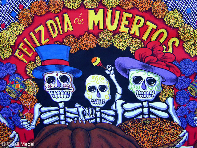 A celebration of life and death, dia de los muertos