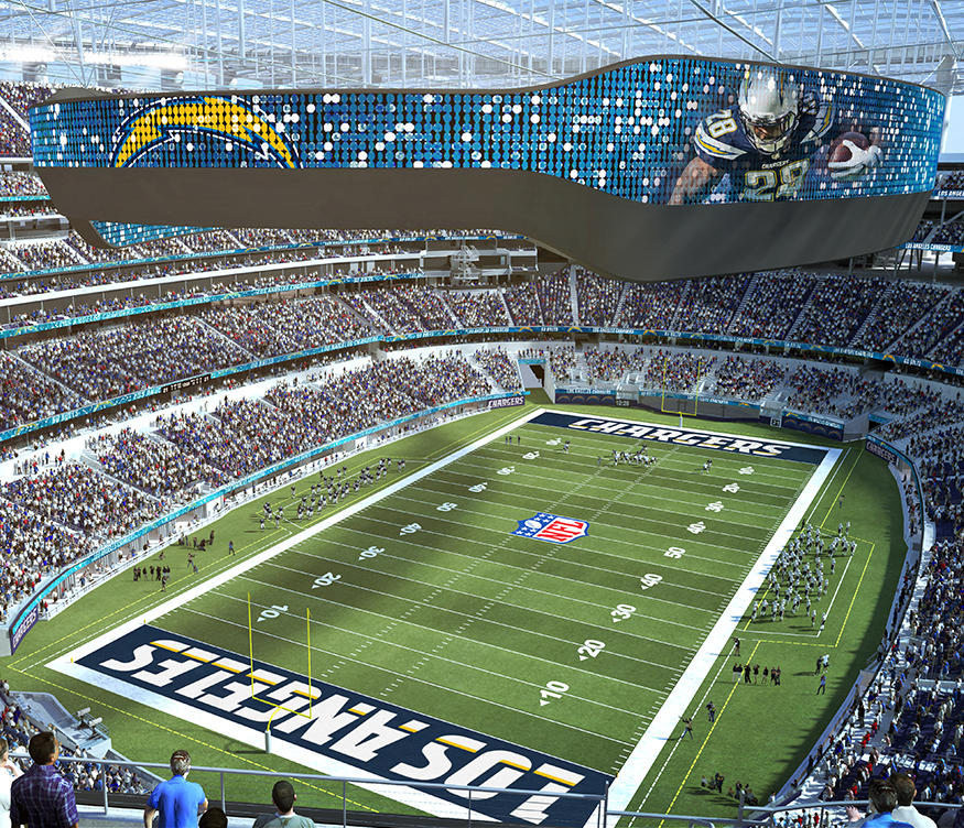Chargers release new renderings for Hollywood Park Stadium
