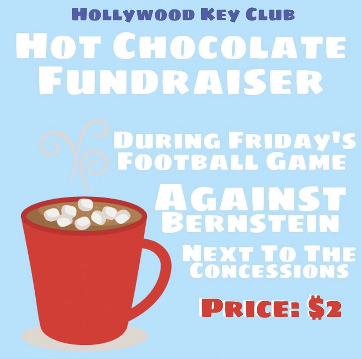 Key Club starts to sell hot cocoa at football games